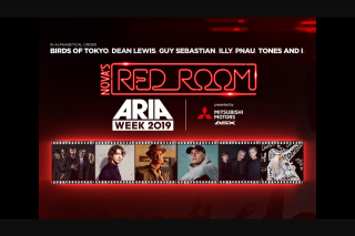 Nova FM Smallzy's sending you to Nova's Red Room ARIA week – Simply Enter Below and Tell Us Why You Need to Be There (prize valued at $6,000)