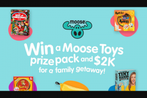 Nova FM – Win a Massive Moose Toys Prize Pack & 2 Grand Cash for a Family Getaway (prize valued at $2,100)
