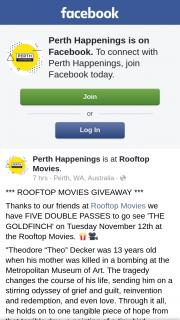 Perth Happenings – on Facebook