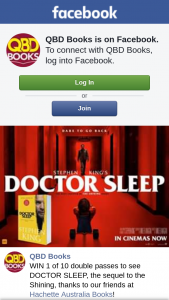 QBD Books – Win 1 of 10 Double Passes to See Doctor Sleep (prize valued at $400)