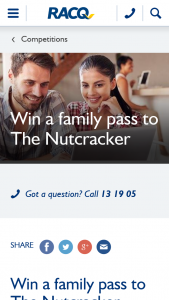 RACQ – Win an In-Season Family Pass to Queensland Ballet's The Nutcracker at Qpac (prize valued at $500)