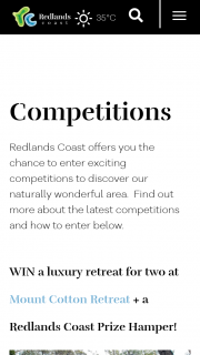 Redland City Council – Win a Luxury Treetop Retreat at Mount Cotton (prize valued at $720)