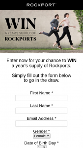 Rockport – Win a Year's Supply of Rockports