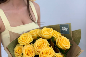 Roses Only – 2 X Yellow Rose Bouquets In Celebration of this Fabulous Spring Event