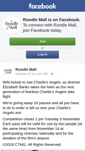 Rundle Mall – Tickets to See Charlie's Angels