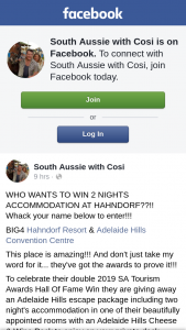 South Aussie With Cosi – Win 2 Nights Accommodation at Hahndorf?
