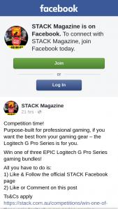 Stack Magazine – Win One of Three Epic Logitech G Pro Series Gaming Bundles
