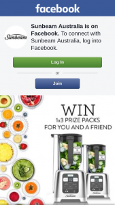 Sunbeam Corporation Ltd – Win a Blender for Both You and a Friend (prize valued at $798)