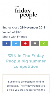 The Friday People – Not 1 But 3 The Friday People Carryall Tote Bags Valued at $375 (prize valued at $375)