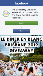 The Great Day Out – a Double Pass to Dîner En Blanc (prize valued at $130)
