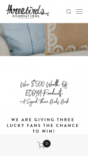 Three Birds Renovations – Win $500 Worth of Ecoya Products (prize valued at $501.25)
