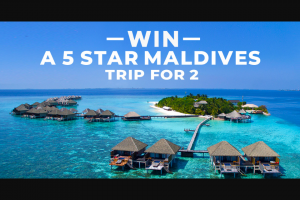 TripaDeal – Win a 5 Star Trip for 2 to The Maldives (prize valued at $12,998)