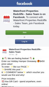 Waterfront Properties Redcliffe Sales Team – $450 Prize Value (prize valued at $450)
