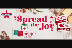 Western Star Butter spread the joy competition – Win Giftcards (prize valued at $30,000)