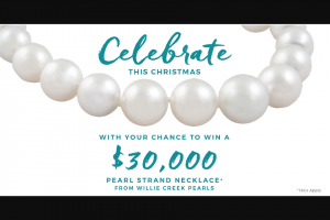 Willie Creek Pearls – Competition (prize valued at $30,000)