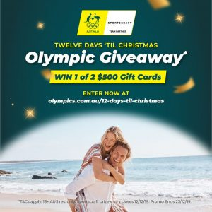 Australian Olympic Committee – 12 Days Til Christmas – Win 1 of 22 prizes
