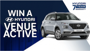 Channel Seven – Win 1 of 7 Hyundai Venue Active 2019 cars valued at $27,748 each