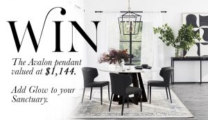 Coco Republic – Win 1 of 3 Avalon Pendant Lights valued at $995 each