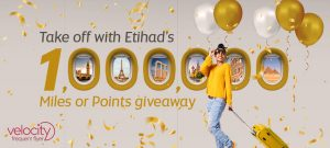 Etihad Airways – Win 1 of 10 prizes of 100,000 Points or Miles each