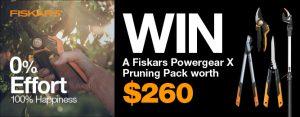 Gardening Australia – Win 1 of 5 Fiskars pruner packs