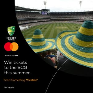 Mastercard Asia/Pacific – Win 1 of 29 prizes of a double pass to the match in Brisbane, Perth, Melbourne OR Sydney