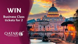 Network 10 – The Living Room – Win a Business Class return trip for 2 to one of Qatar Airways' 160 destinations PLUS 2-night accommodation in Doha