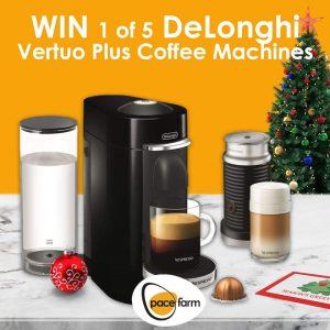 Pace Farm – Win 1 of 5 DeLonghi Nespresso Coffee machines