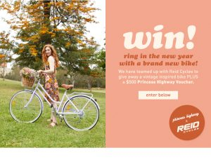 Princess Highway – Win a brand new vintage bike PLUS a $500 voucher