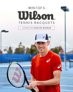 Swisse – Win 1 of 5 Wilson Tennis racquets signed by The Demon