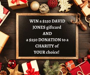 The Wristband Co – Win a $250 David Jones gift card & a $250 donation to a charity of your choice