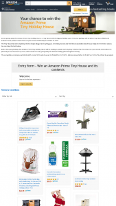 Amazon – The Amazon Prime Tiny Holiday House – a Tiny House With The Biggest Holiday Spirit (prize valued at $100,000)