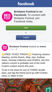 Brisbane Festival – Win One of Five $1000 Gift Cards