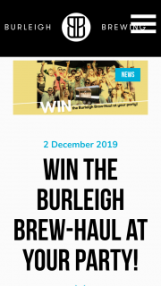 Burleigh Brewing – Win The Burleigh Brew-Haul at Your Party