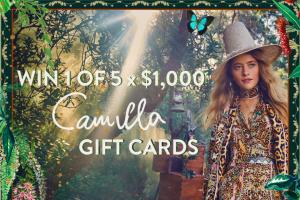 Camilla – Win 1 of 5 X $1000 Camilla Gift Cards&#8203