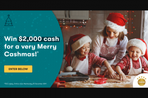 Canstar – Win $2000 for a Merry Cashmas With Canstar 2019 Terms and Conditions (prize valued at $2,000)