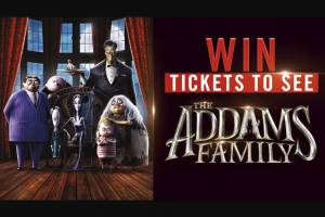 Channel 7 – Sunrise – Win One of Ten Family Passes to See New Animated Flick The Addams Family at Your Local Cinema (prize valued at $800)