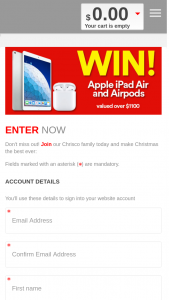 Chrisco – Take 5 – Win an Apple Ipad Air and Airpods (prize valued at $1,100)
