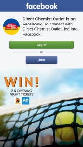 Direct Chemist Outlet – Win 2x Opening Night Tickets to The Australian Open – simply Tell Us In 25 Words Or Less 'what Players You Would Like to See Play on The Night'
