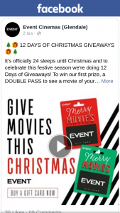 Event Cinemas Glendale – Win Our First Prize