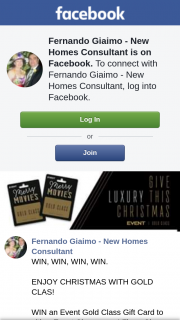 Fernando Giaimo New Homes Consultant – Win an Event Cinemas Gold Class Gift Card to Either Event Cinemas Or Village Cinemas and Experience The Ultimate World of Gold Class Cinema Luxury