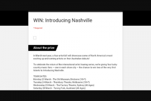 Frontier – Win Two of The Very First Tickets to Introducing Nashville (prize valued at $330)