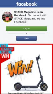 Stack Magazine – Win a Segway Ninebot Kickscooter Max (prize valued at $1,199)