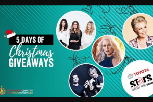 Tamworth Country Music Festival five days of Christmas giveaway  – Win a Double Pass Plus a Pre-Show Meet & Greet to The One and Only Mcclymonts Show at The Festival
