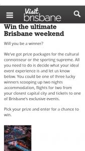 Visit Brisbane – Forms Part of Conditions