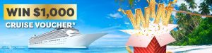 Cruise Guru – Win 1 of 3 cruise vouchers valued at $1,000 each
