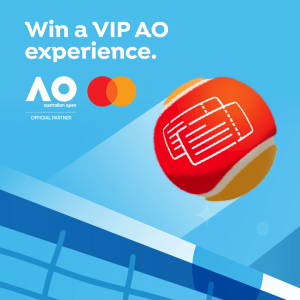 Mastercard – Australian Open 2020 The Hub – Win a grand prize of a trip for 4 to Melbourne to attend the Australian Open Tennis Tournament 2021 OR many other Instant win prizes