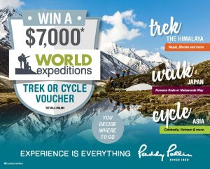 Paddy Pallin – Win a World Expeditions voucher valued at $7,000