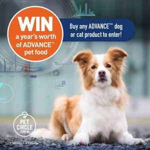 Pet Circles – Win a year's supply of Advance Pet Food (3 prizes to be won)