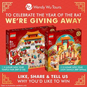 Wendy Wu Tours Australia – Win 1 of 3 Lego Lunar New Year sets