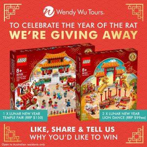 Wendy Wu Tours Australia – Win 1 of 3 Lego Lunar New Year sets